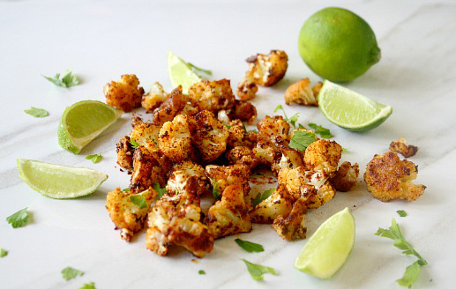 Roasted Cauliflower With Chipotle & Lime