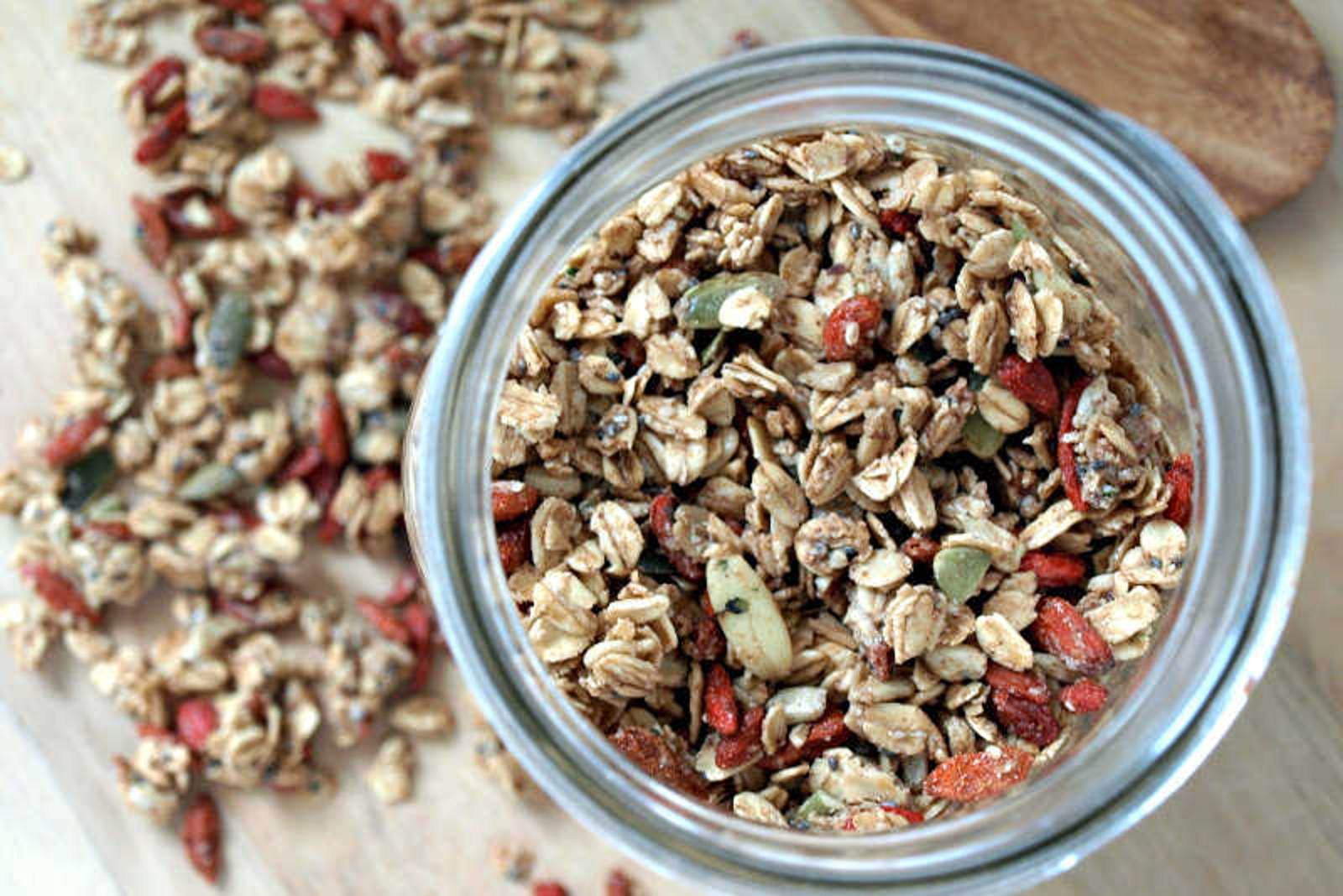 Seeds And Goji Berry Granola Vegan One Green Planet