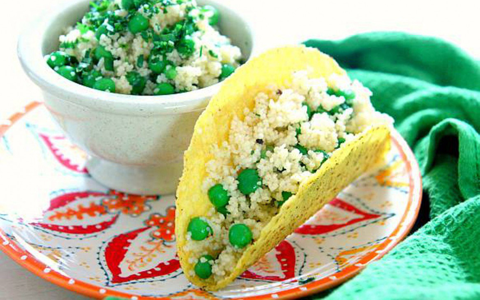 Crunchy Couscous Tacos With Sweet-Spicy Jalapeno Dressing