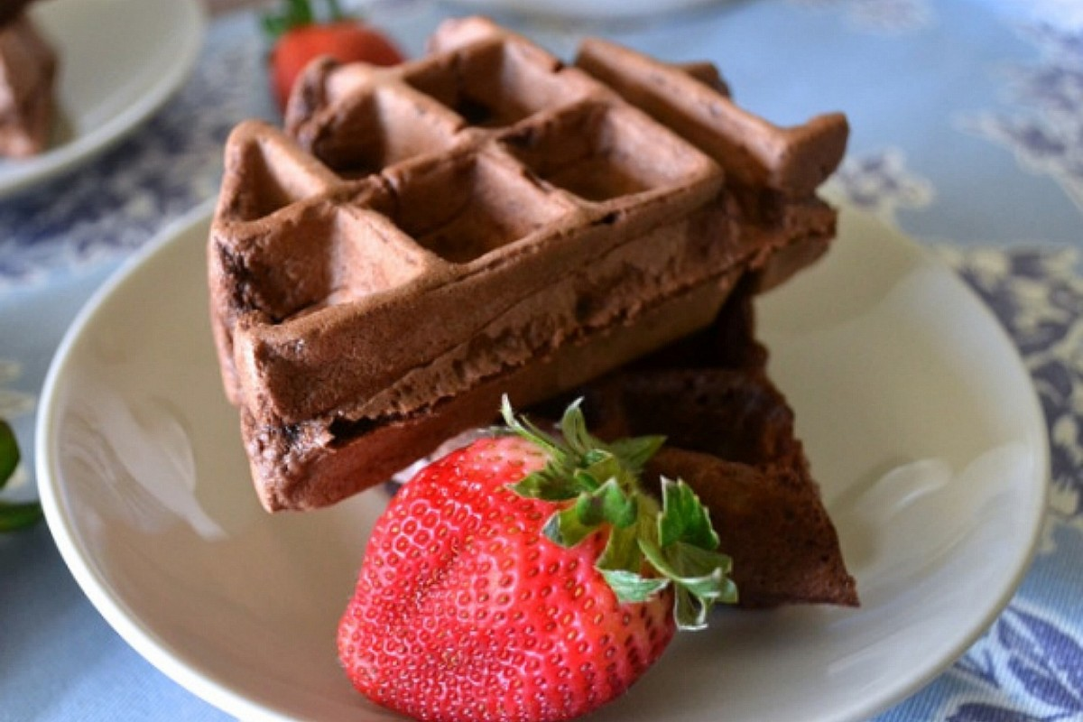 Mexican Chocolate Waffles