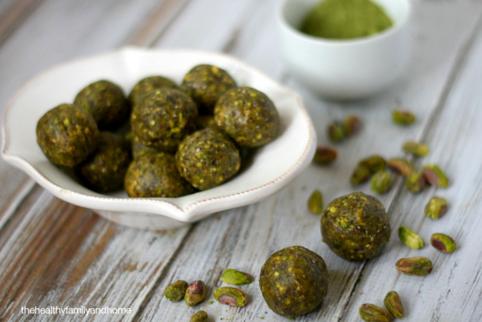 Pistachio and Matcha Truffles