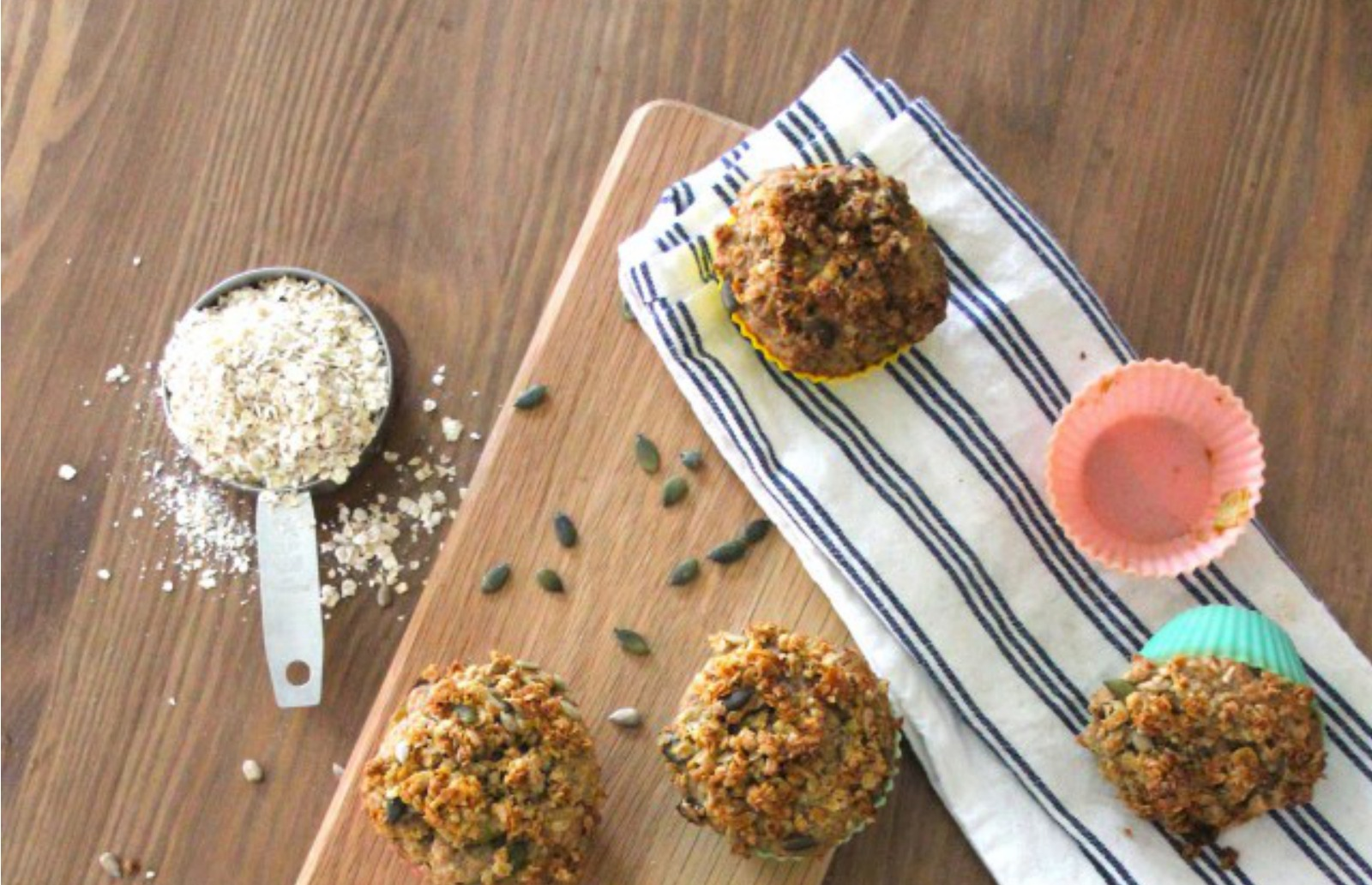Roasted Rhubarb Granola Muffins [Vegan]