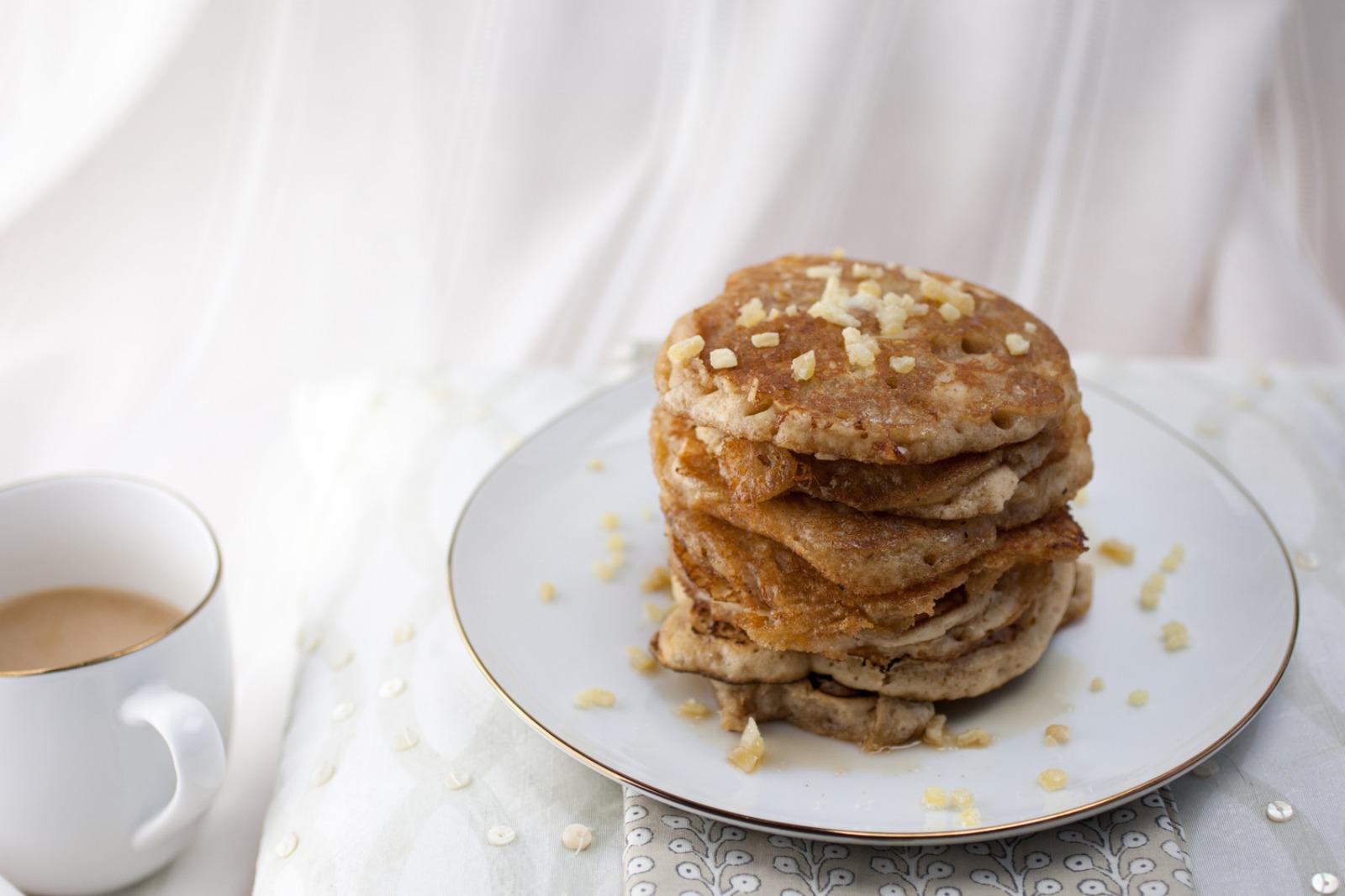 Maple Ginger Pancakes [Vegan]