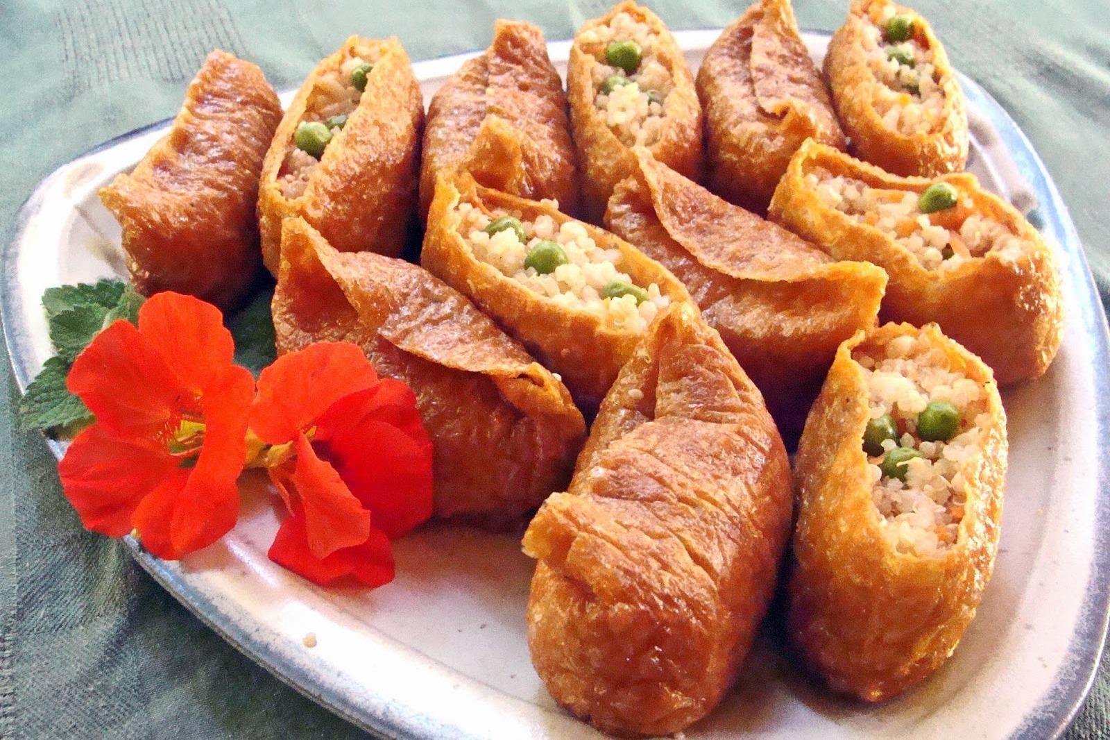 Multi-Whole-Grain Inari Sushi (Sushi Grains in Fried Tofu Pockets) [Vegan]