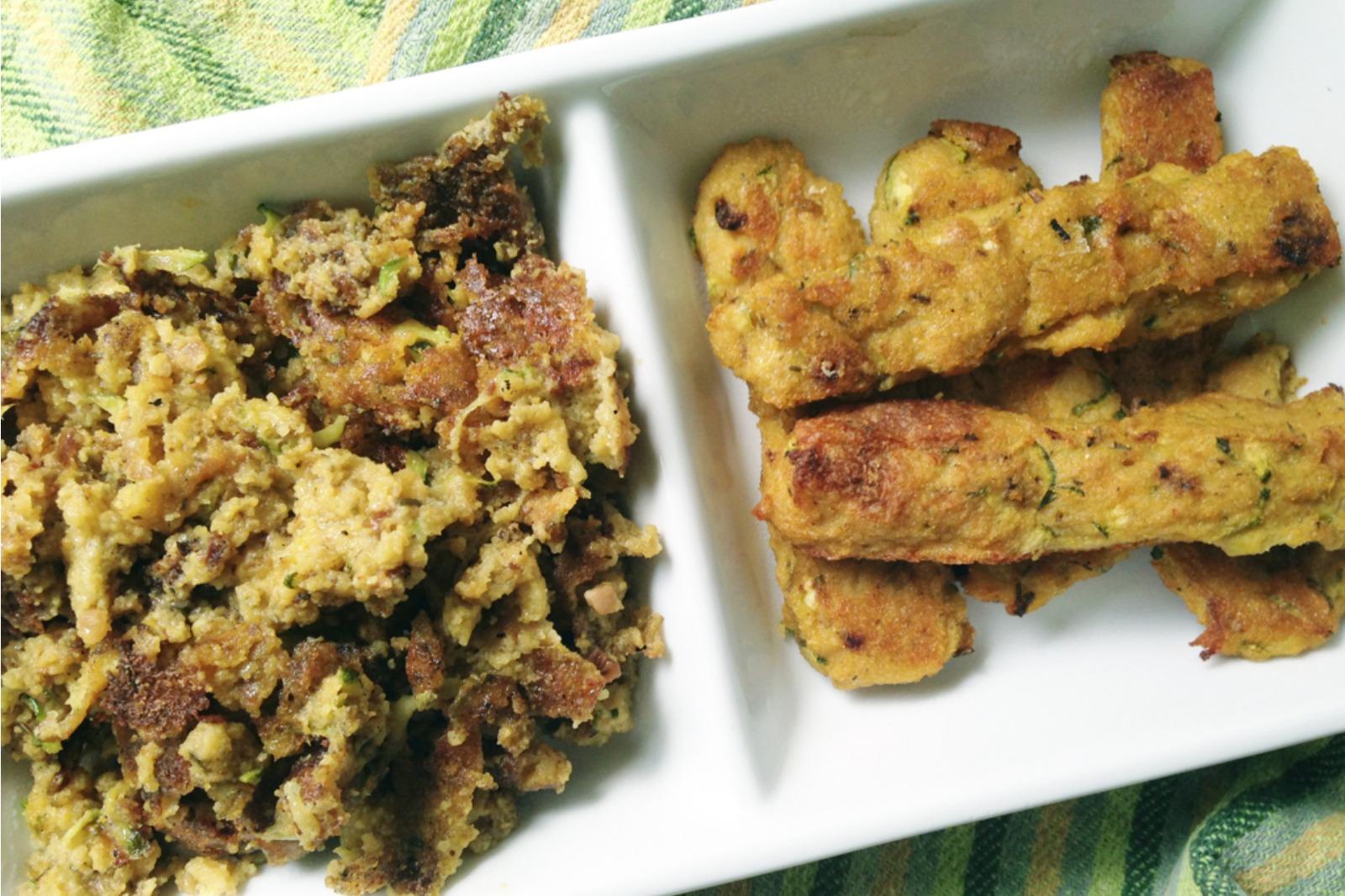Zucchini Polenta Fries and Zucchini Polenta Scramble [Vegan]