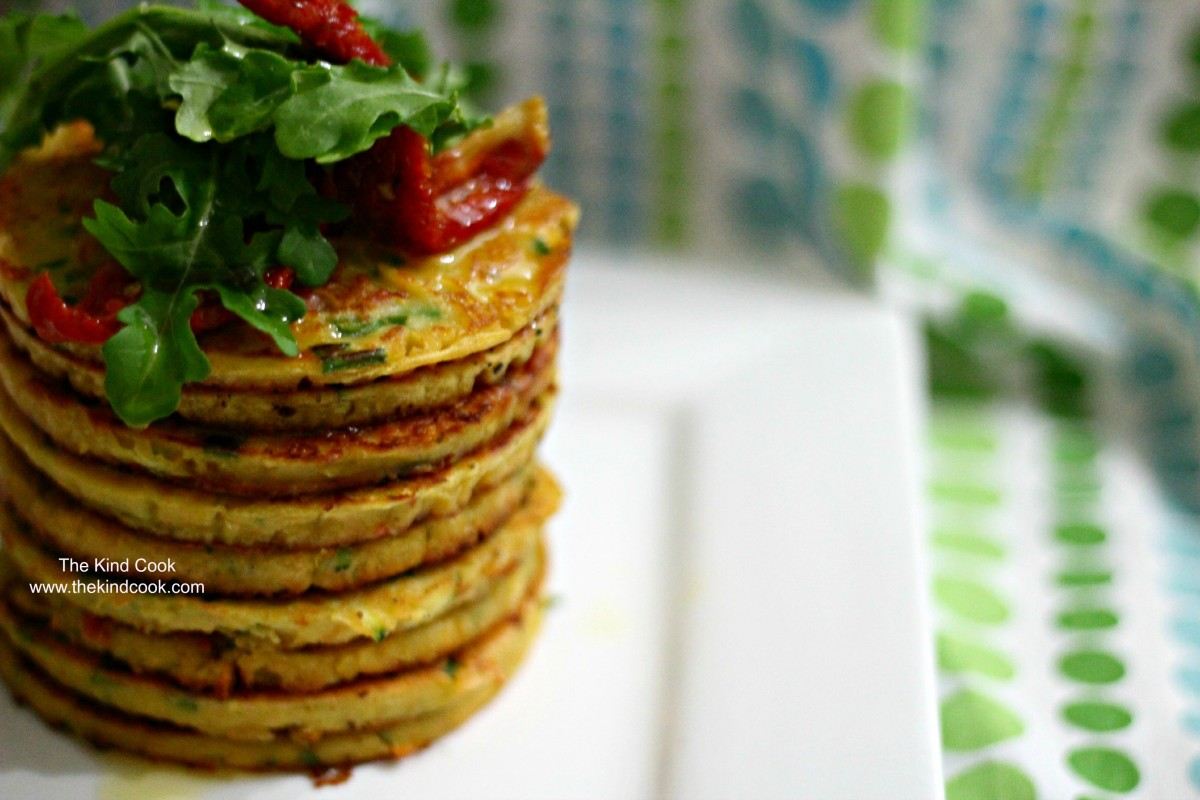 Tomato, Chive, and Chickpea Pancakes