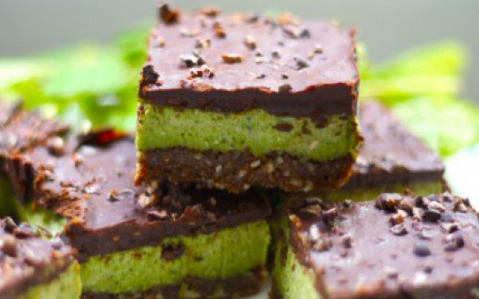 Raw Peppermint Chocolate Squares