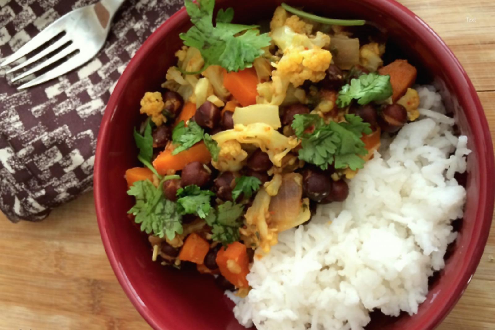 Black Chana Vedic Curry [Vegan]