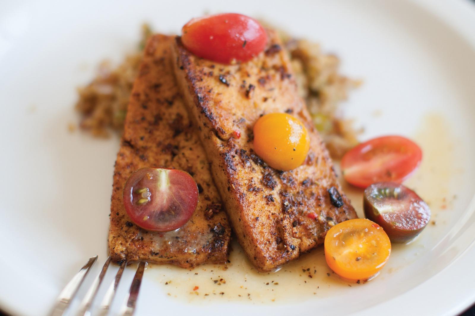 Cajun Tofu With Dirty Quinoa [Vegan]