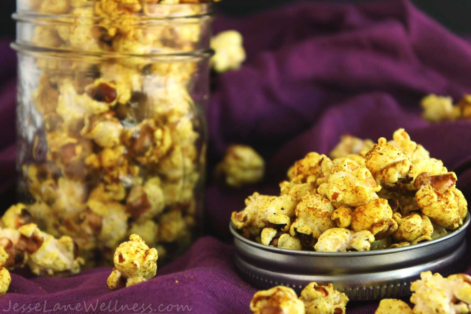 Coconut Curry Popcorn [Vegan]