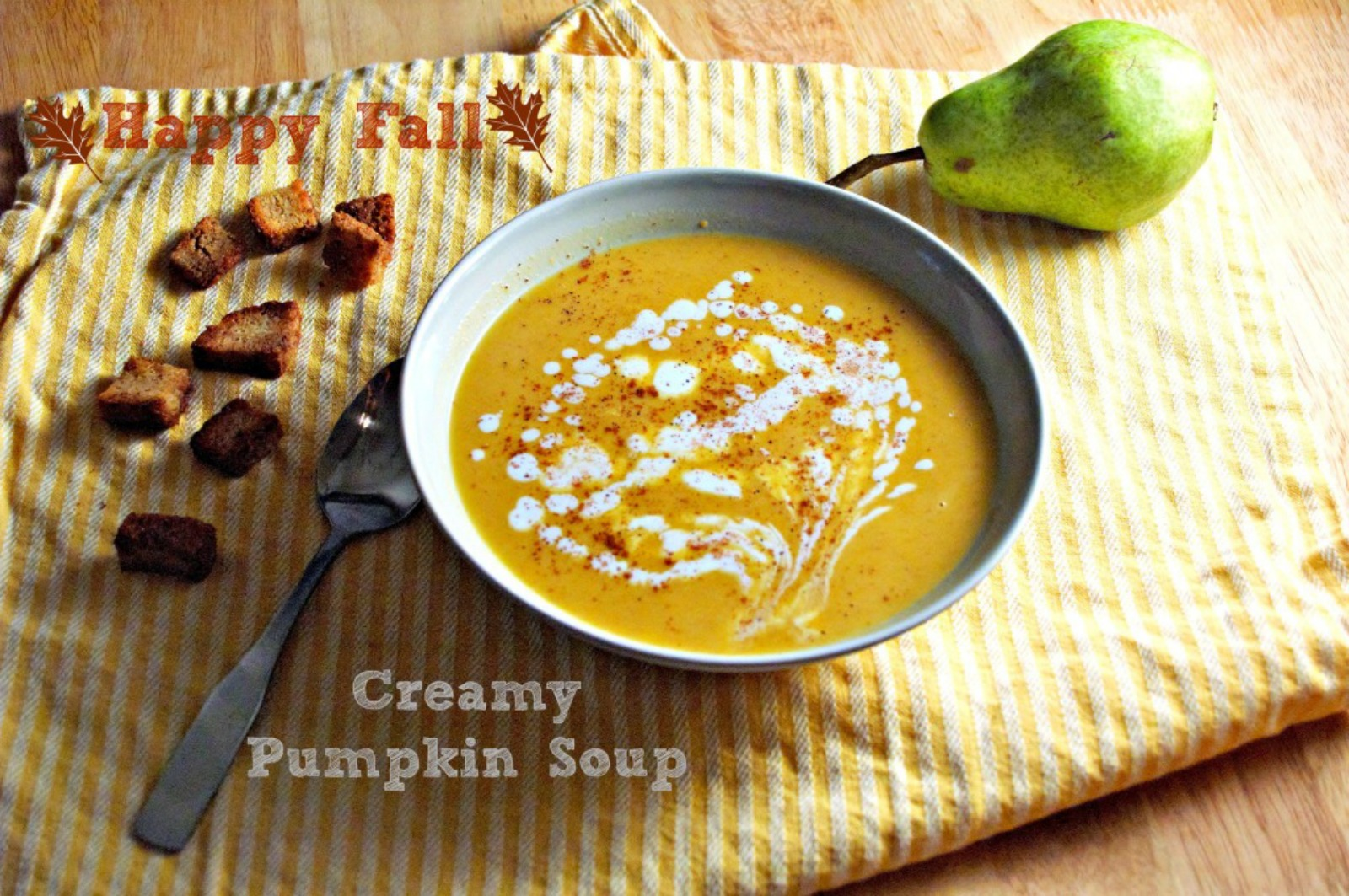 Creamy Pumpkin Soup [Vegan]