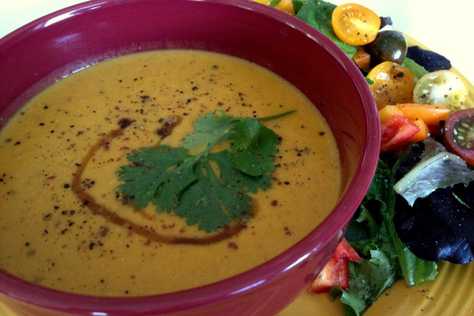 Curry Maple Yam Soup [Vegan]