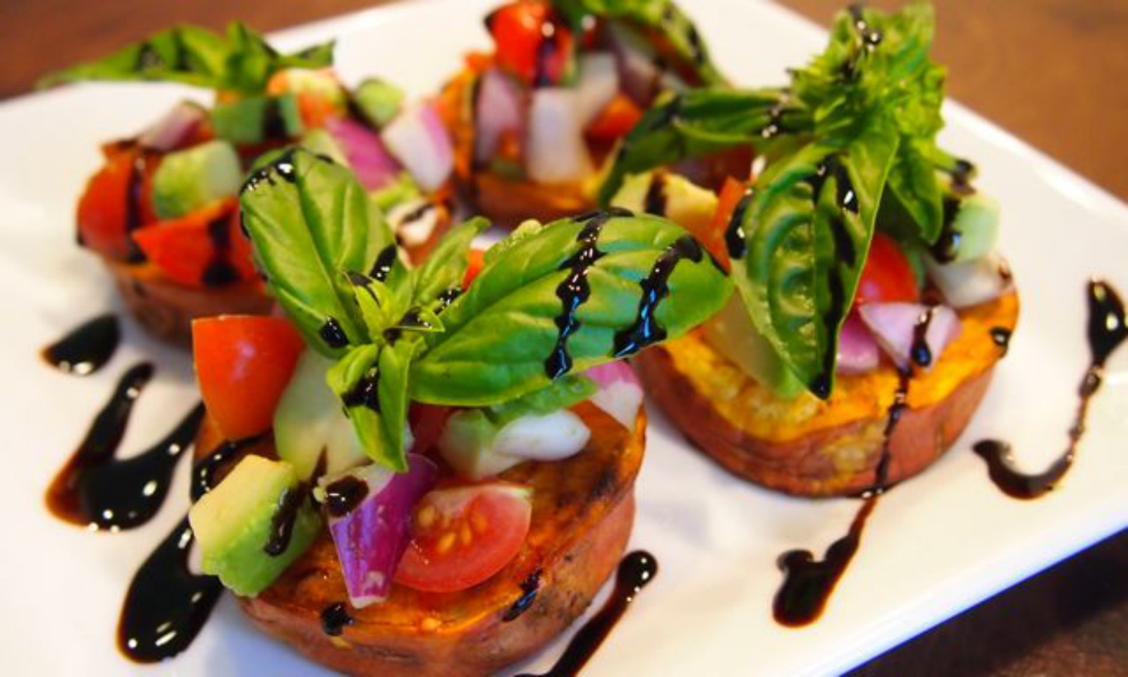Sweet Potato Bruschetta [Vegan]