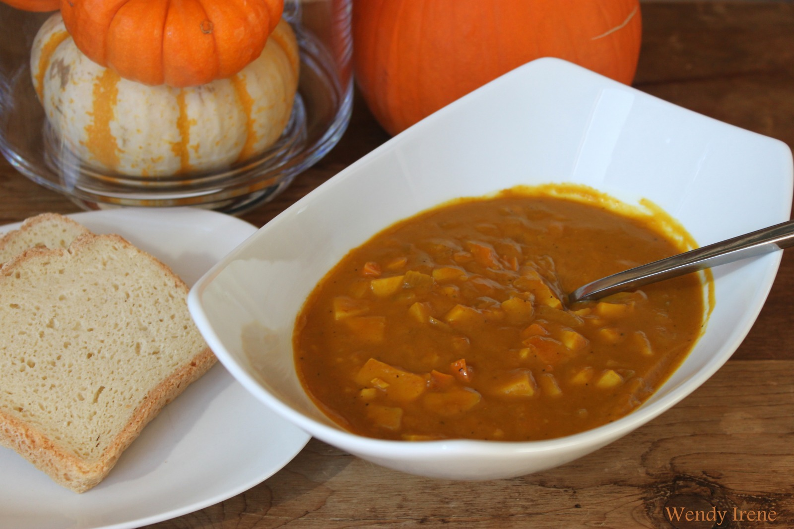 Sweet Potato Pumpkin Soup [Vegan]