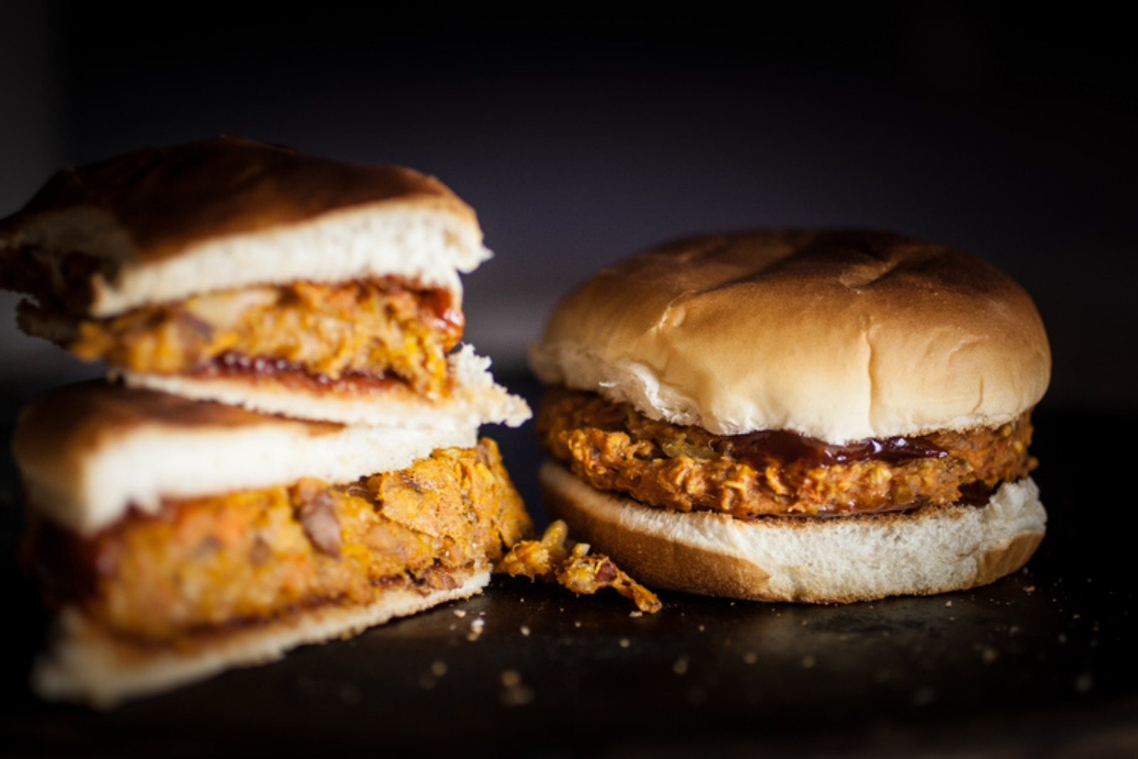 Vegan Chipotle Maple Sweet Potato Burgers