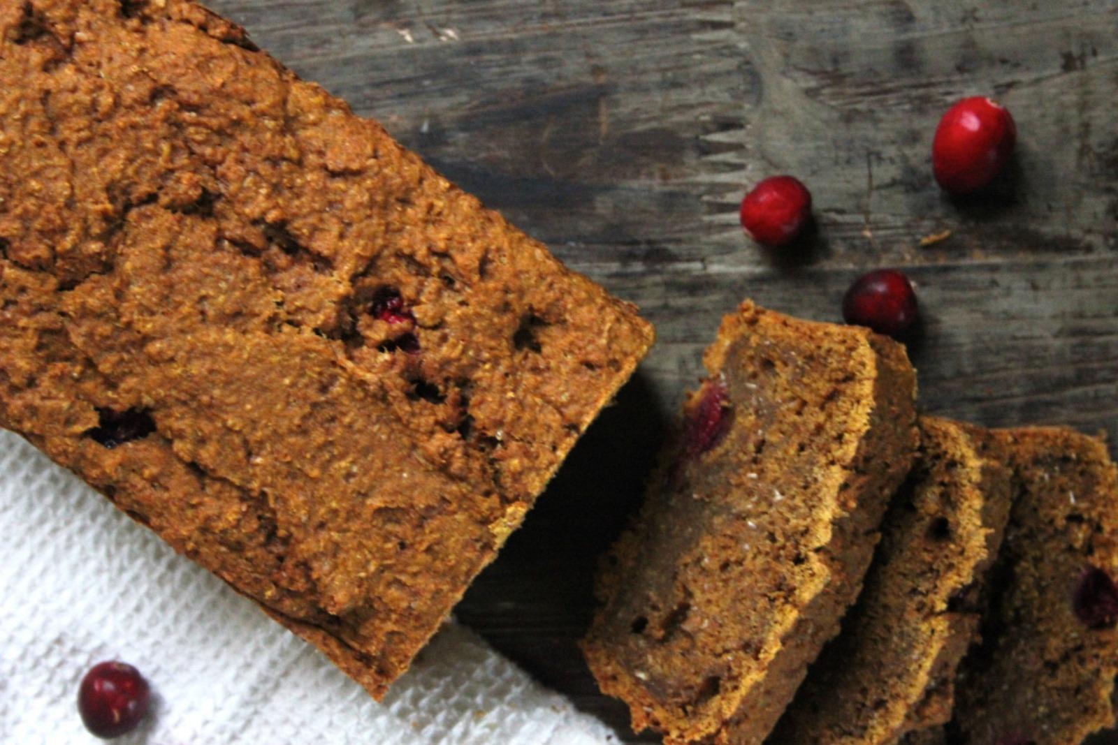 Cranberry & Pumpkin Breakfast Loaf [Vegan]