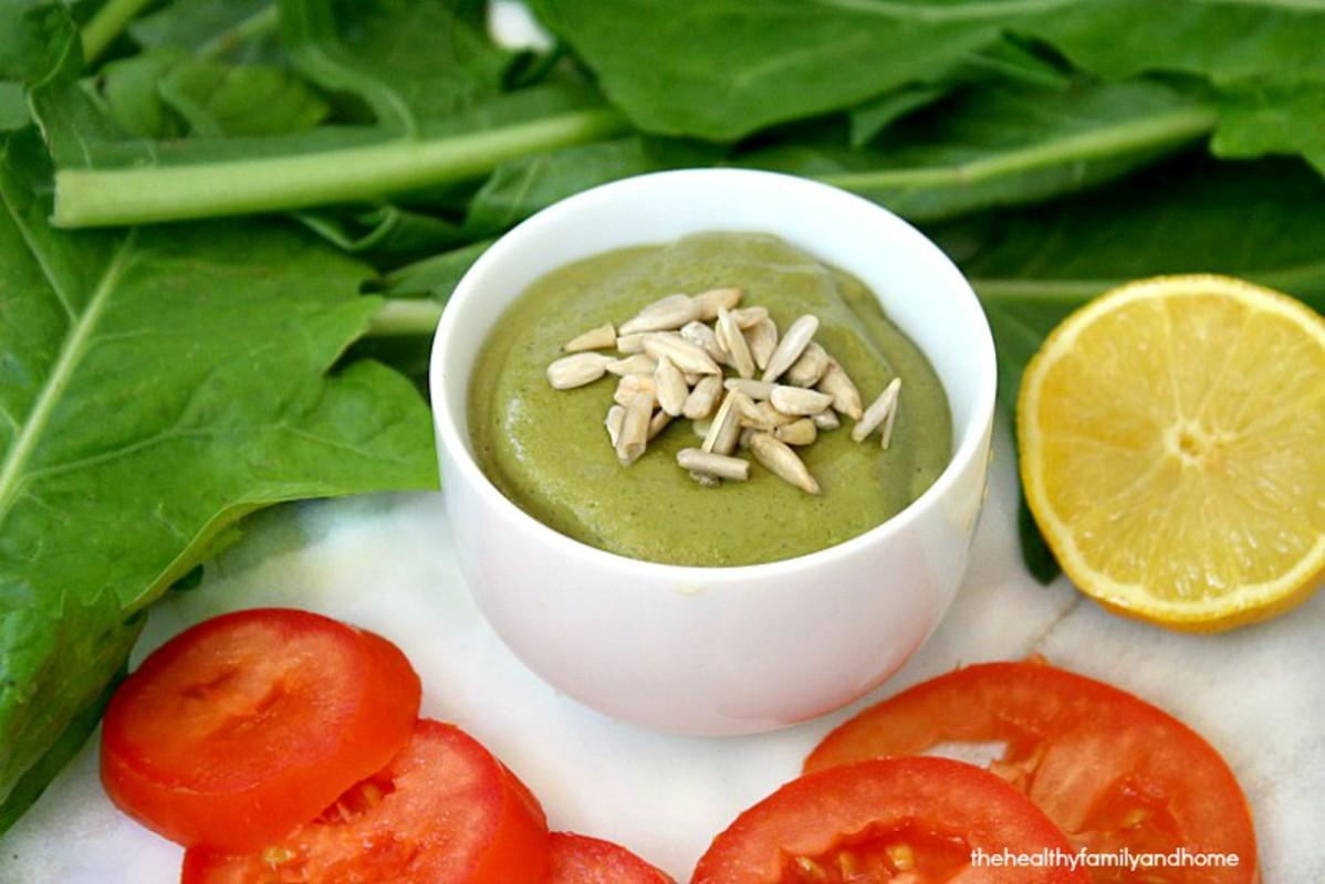 Vegan Dandelion Greens Dressing