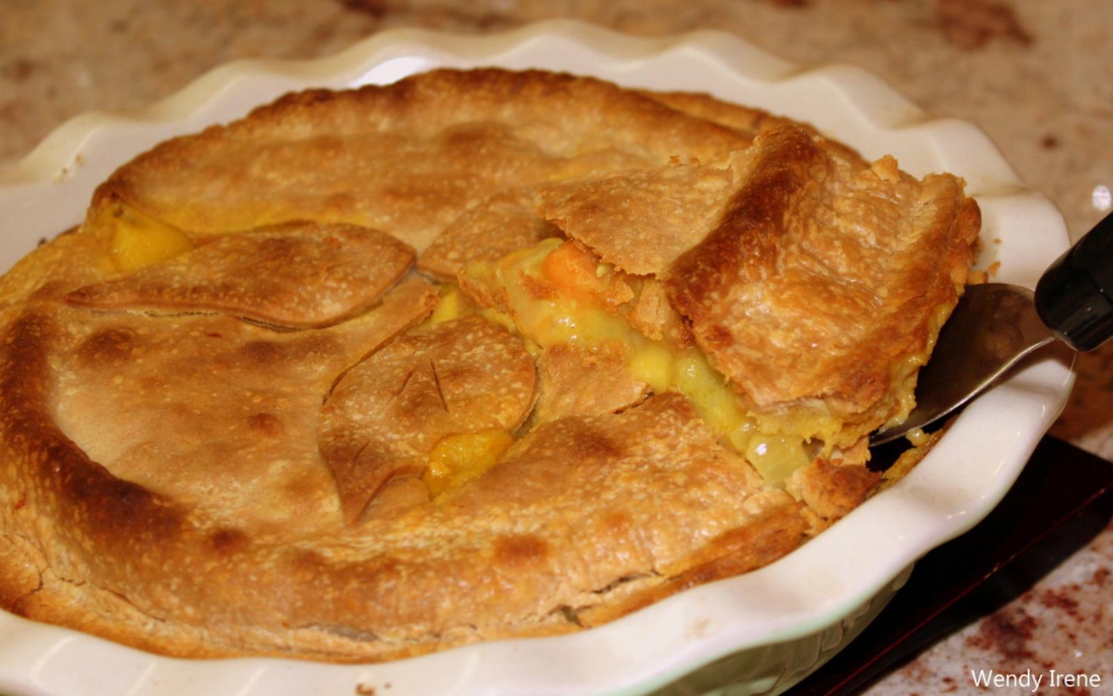 Vegan Curry Gravy Vegetable Pot Pie