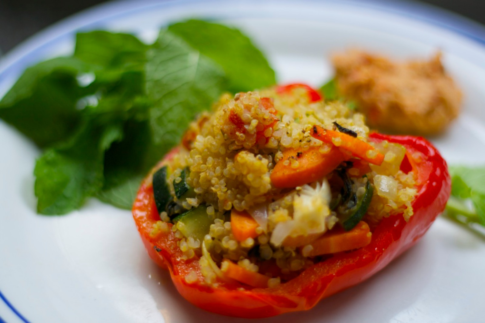 Quinoa Stuffed Bell Peppers [Vegan]