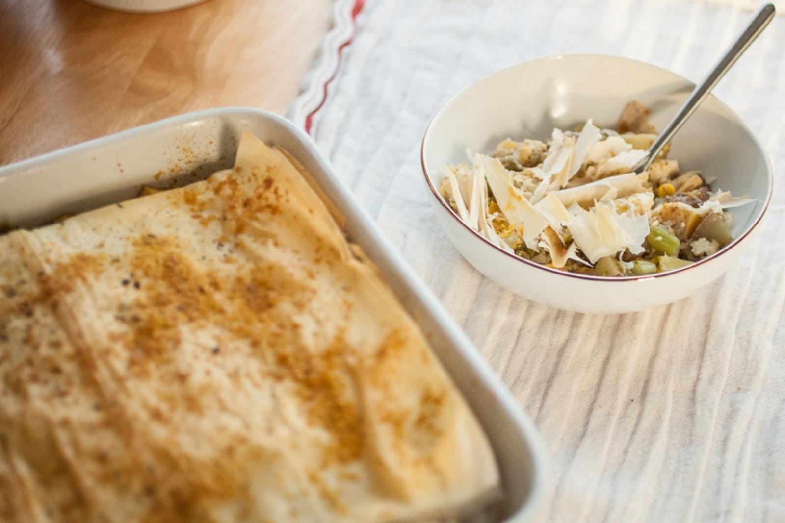 Tofu Pot Pie Casserole [Vegan]