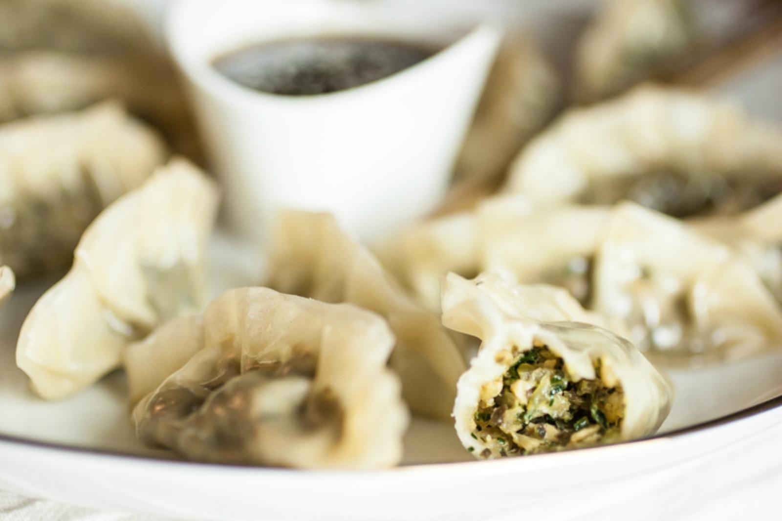 Tempeh & Kale Steamed Gyoza [Vegan]