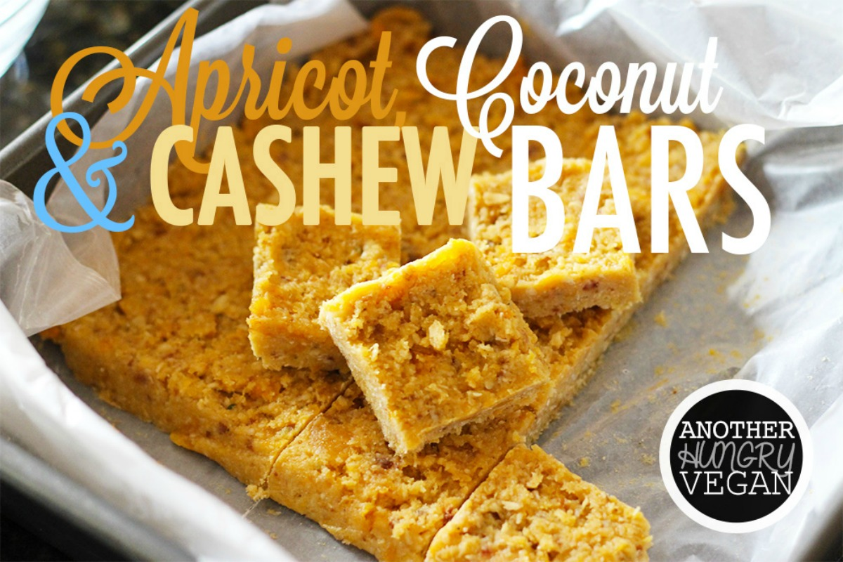 Apricot, Coconut and Cashew Bars [Vegan, Gluten-Free]