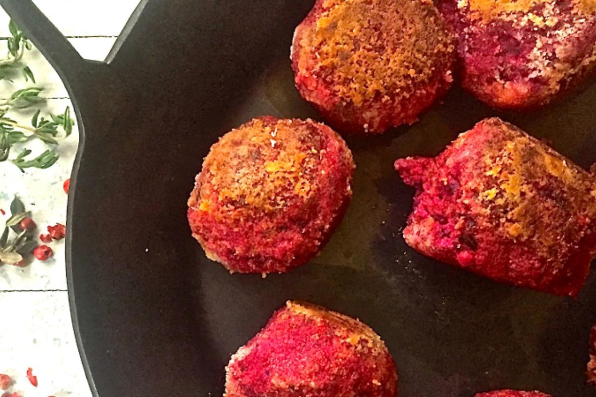 Vegan Swedish Meatballs with Rosé Pepper and Thyme [Vegan, Gluten-Free]