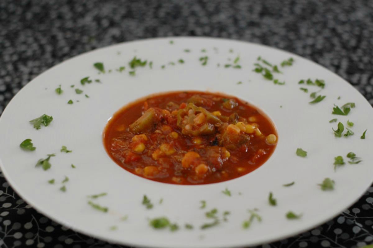Creole Okra Corn Soup [Vegan, Gluten-Free]