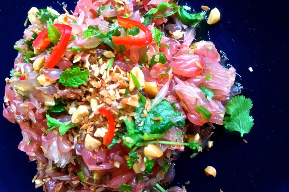 Pomelo Salad with Roasted Coconut (Vegan, Gluten-free) Ida Hemmingsson-Holl