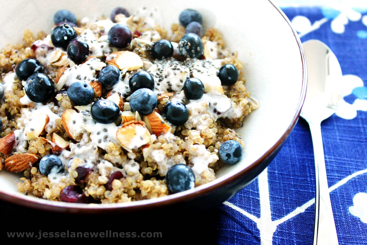 High-protein quinoa breakfast bowl