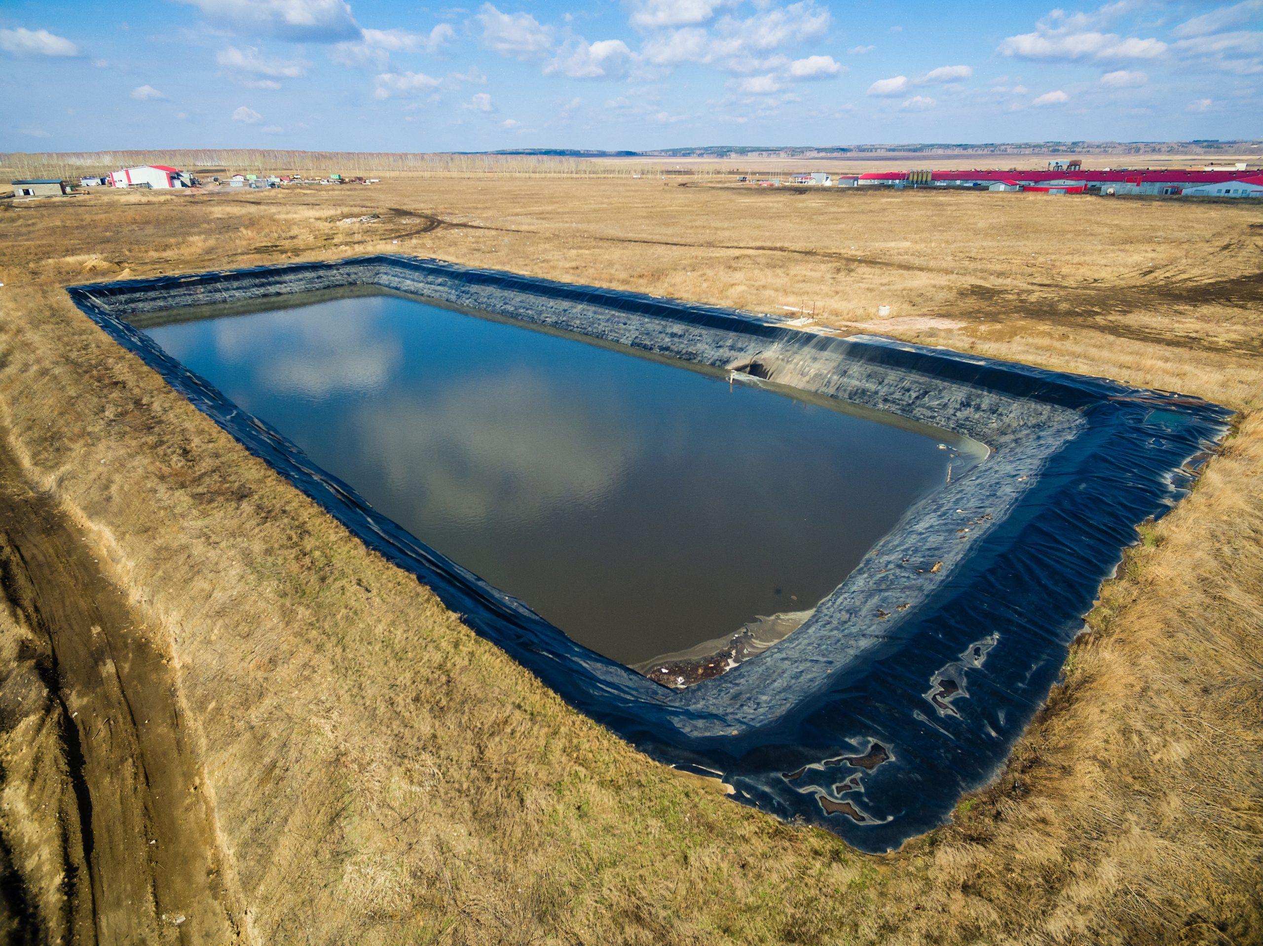 pool for pig sewage