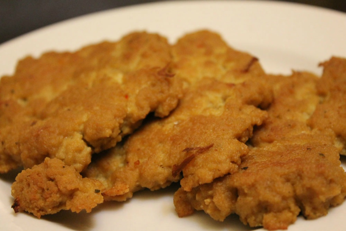 vegan Chicken cutlets made with Seitan
