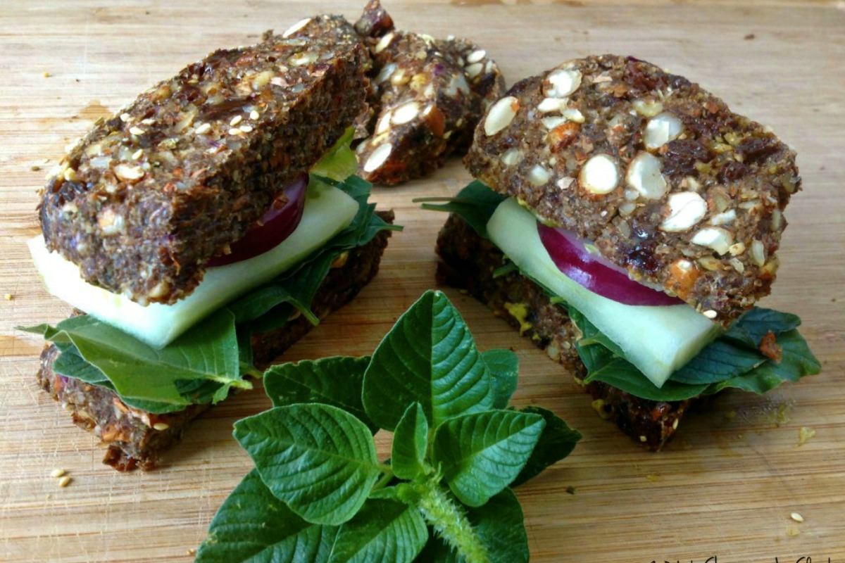 Raw, Gluten-Free Sandwich Bread