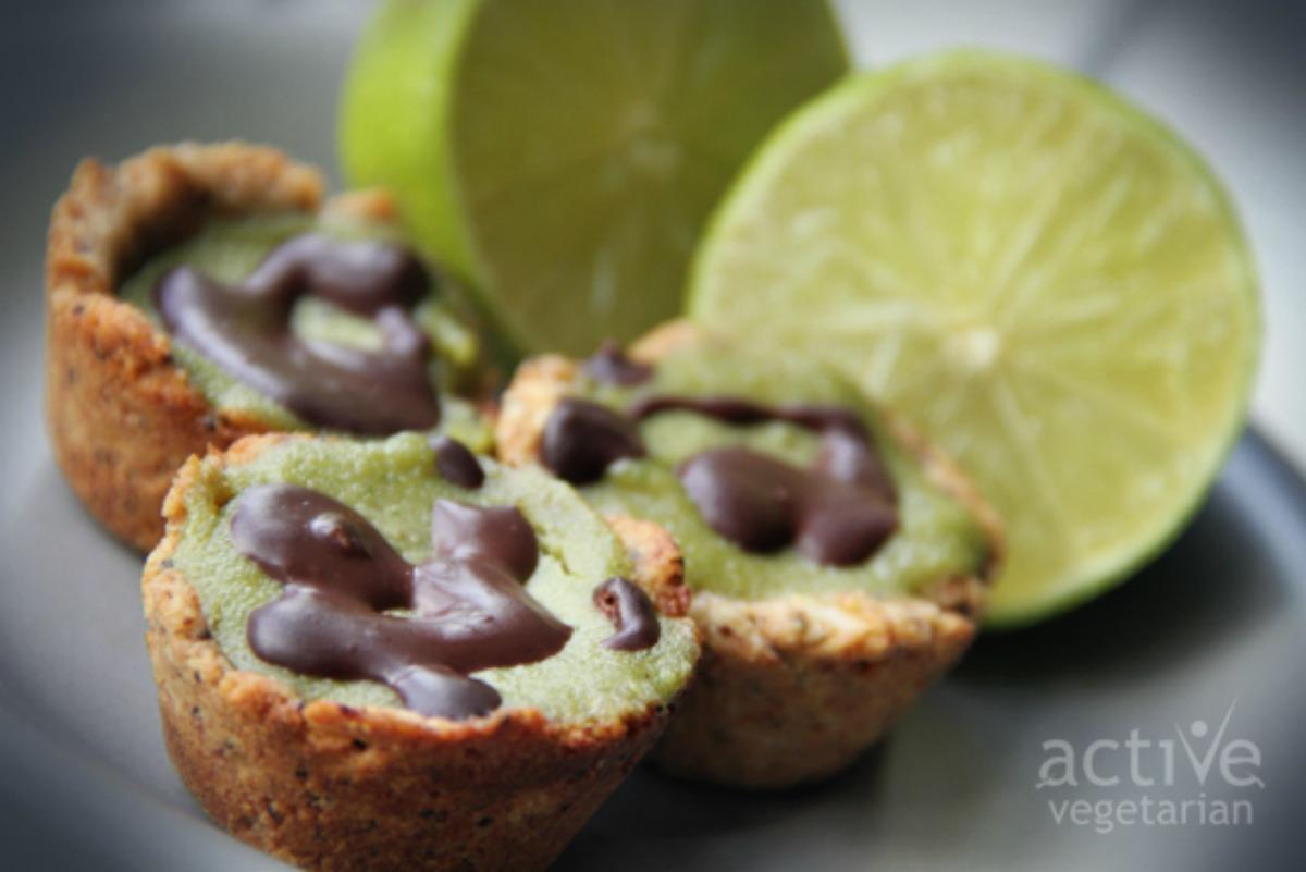 Vegan Lime Poppyseed Mini Cheesecakes [Gluten-Free]