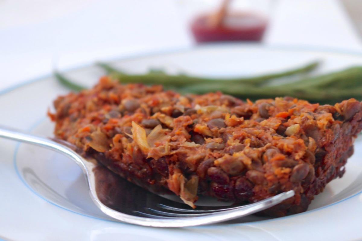 Lentil Loaf With Tomato Glaze [Vegan, Gluten-Free]