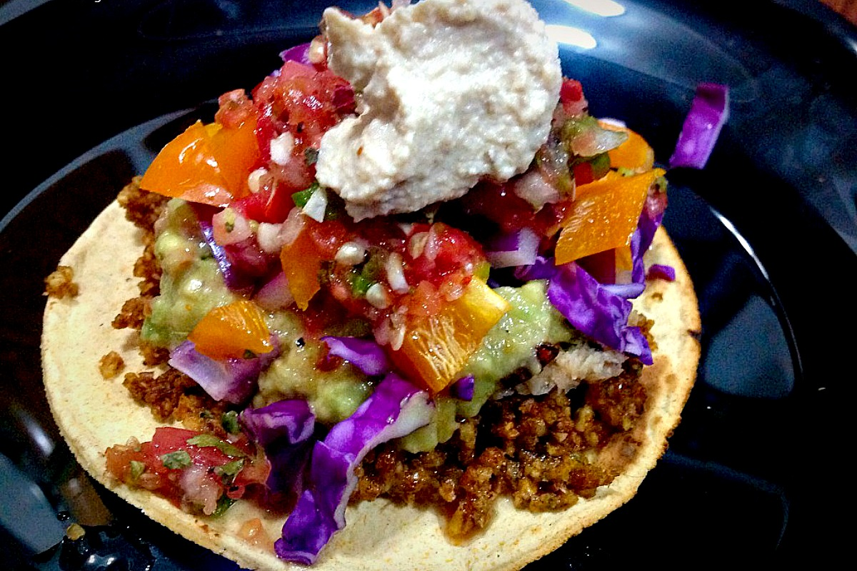 Walnut raw vegan Taco Meat