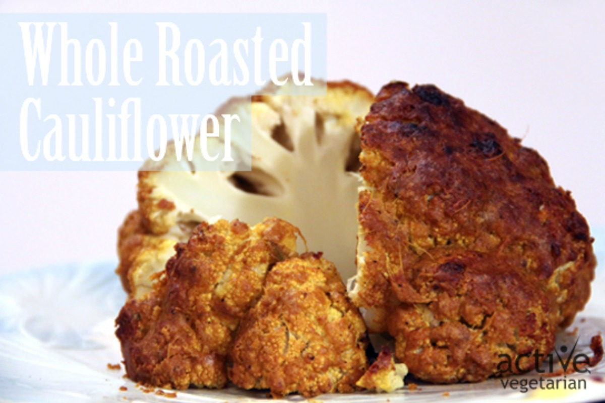 """Cheese"" Whole Roasted Cauliflower"