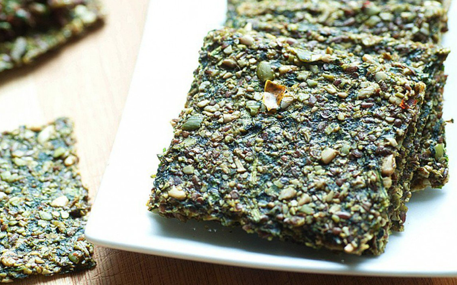 Vegan  Raw Pumpkin Seed Crackers