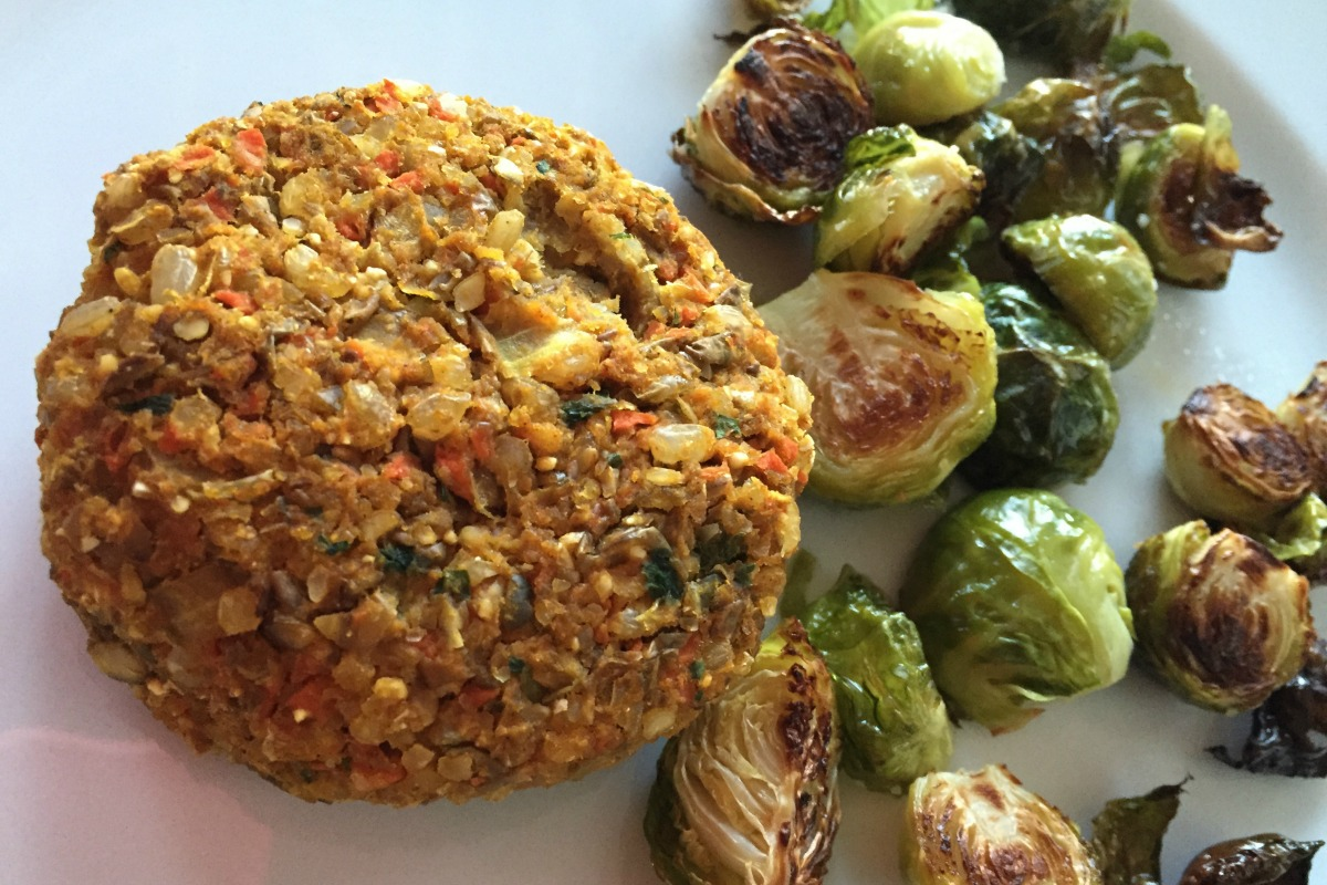 Moroccan Spiced Lentil Butternut Squash Burgers [Vegan, Gluten-Free]