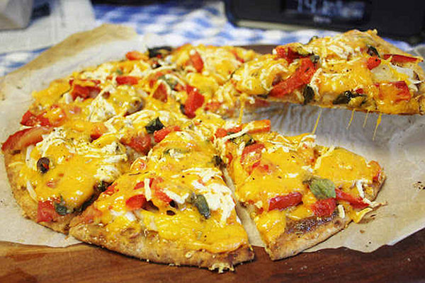 Holy Three Cheese Pizza!