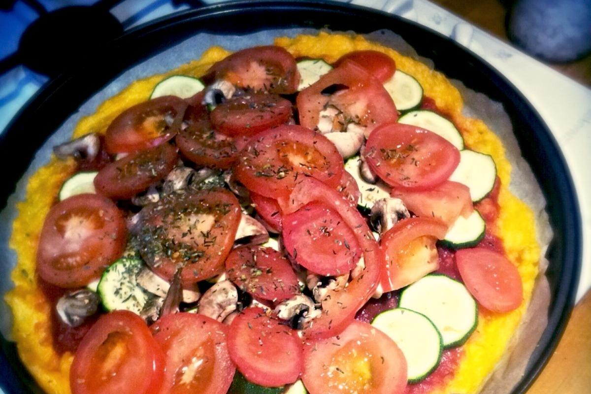 Polenta Pizza [Vegan]