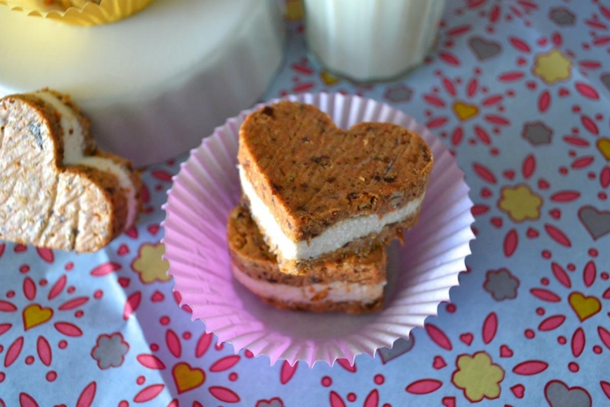 Raw Carrot Cake and Cream Cheese Hearts [Vegan, Gluten-Free]