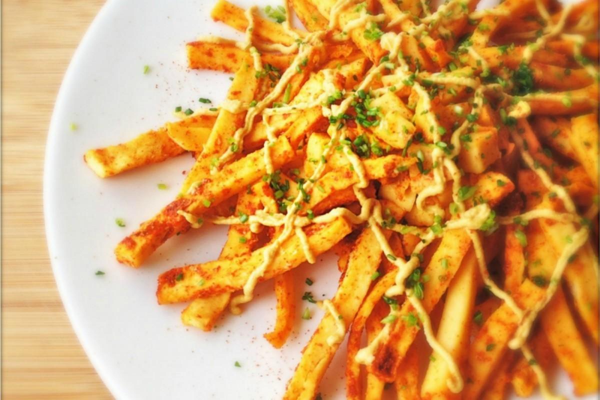 Vegan Chili Cheese Turnip Fries
