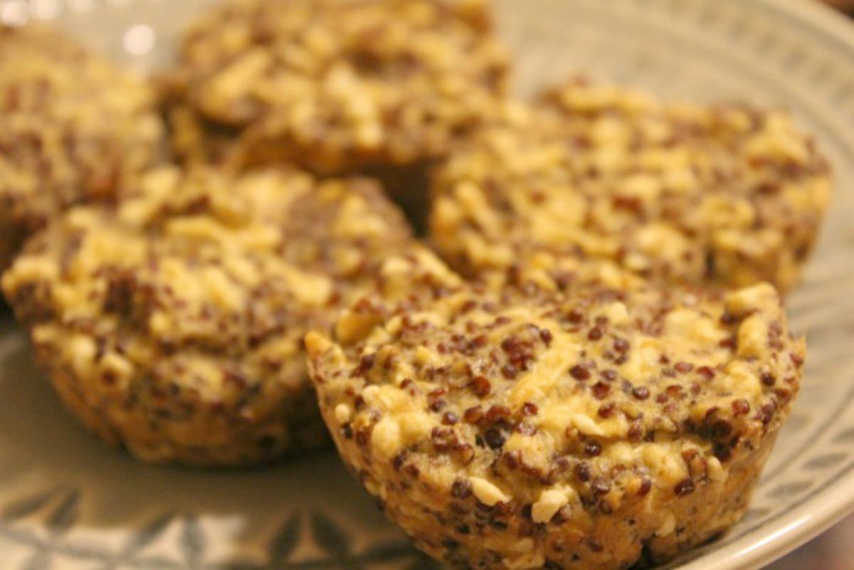 Gluten-Free, Quinoa Garlic Bread Bites [Vegan]