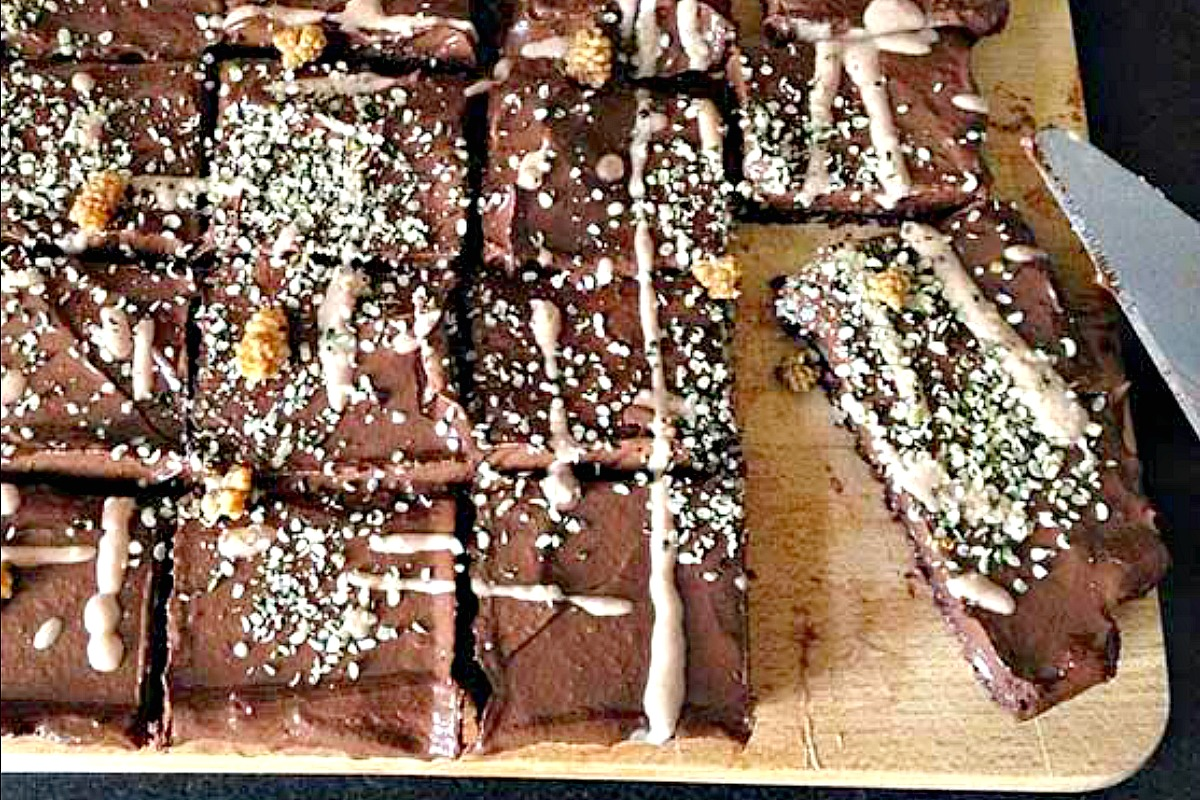Raw Vegan Chocolate Brownie [Vegan, Gluten-Free]