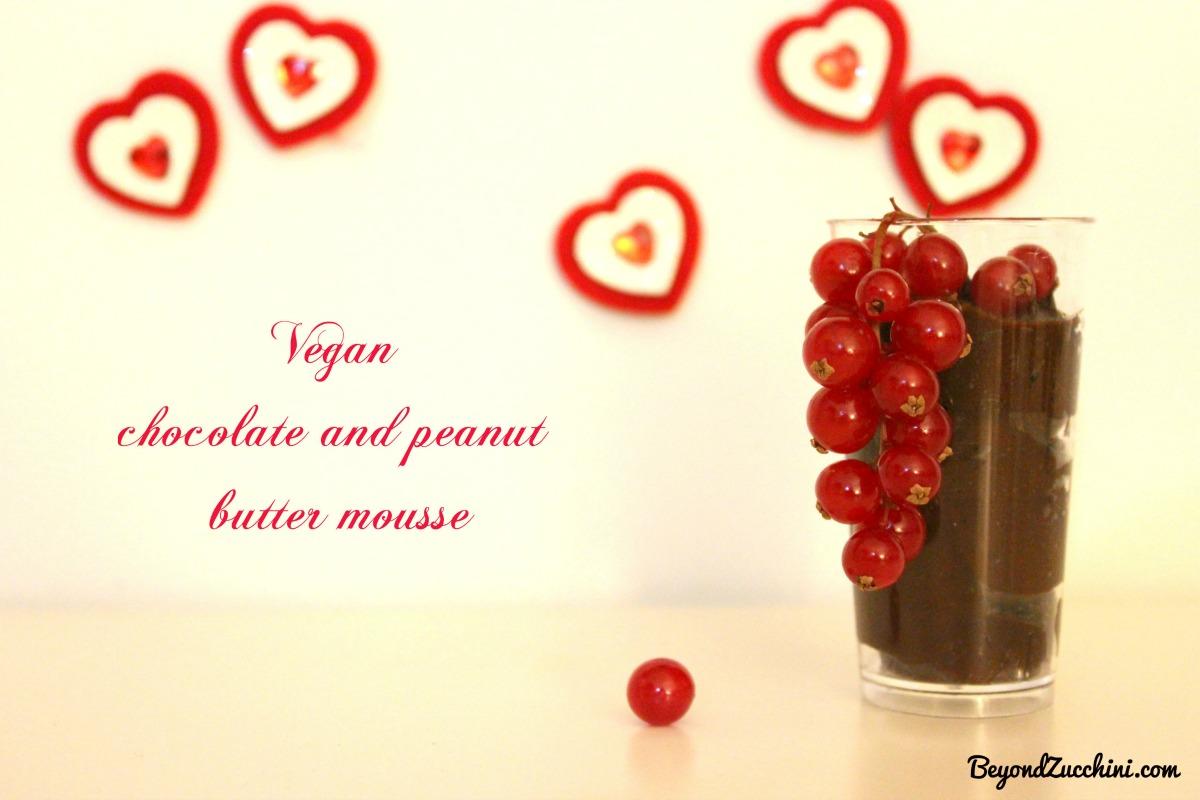 Vegan Chocolate and Peanut Butter Mousse [Vegan, Gluten-Free]