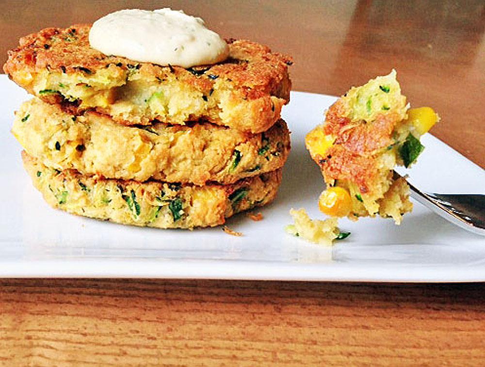 Zucchini and Corn Veggie burger/fritter