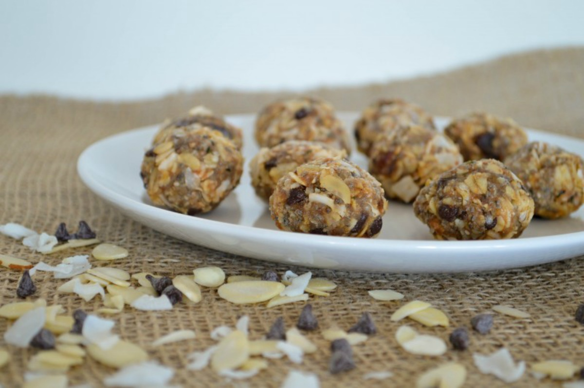 One Bowl Chocolate, Caramel Almond Balls [Vegan, Gluten-Free]