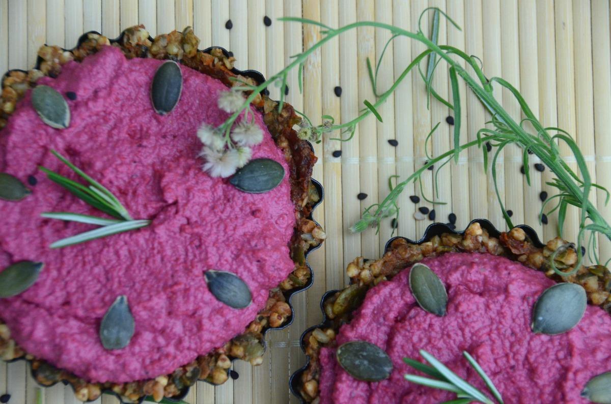 Raw Beetroot and Rosemary Tarts [Vegan, Gluten-Free]