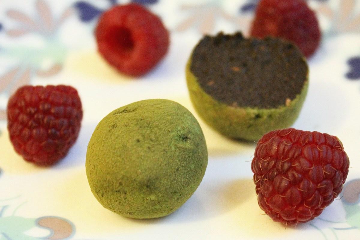 Matcha Raspberry Bliss Balls [Vegan, Gluten-Free]